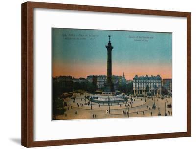 The Place de la Bastille and the July Column, Paris, c1920-Unknown-Framed Giclee Print