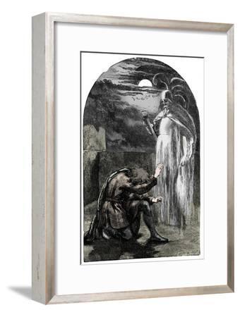Scene from Shakespeare's Hamlet, 19th century-Unknown-Framed Giclee Print
