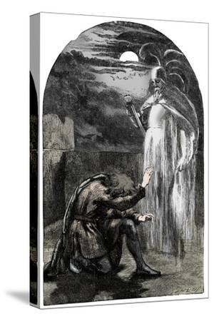Scene from Shakespeare's Hamlet, 19th century-Unknown-Stretched Canvas Print