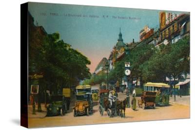 The Boulevard des Italiens, Paris, c1920-Unknown-Stretched Canvas Print