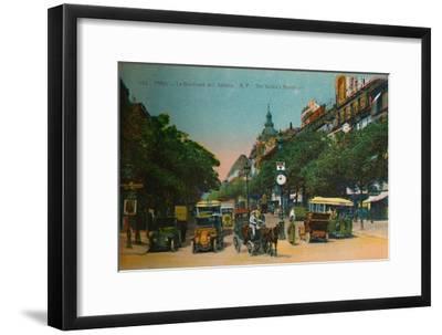 The Boulevard des Italiens, Paris, c1920-Unknown-Framed Giclee Print