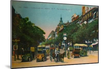 The Boulevard des Italiens, Paris, c1920-Unknown-Mounted Giclee Print