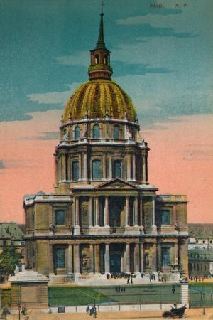 The Dome of Les Invalides, Paris, c1920-Unknown-Framed Giclee Print