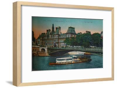 The Hôtel de Ville, Paris, c1920-Unknown-Framed Giclee Print