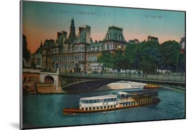 The Hôtel de Ville, Paris, c1920-Unknown-Mounted Giclee Print