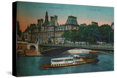 The Hôtel de Ville, Paris, c1920-Unknown-Stretched Canvas Print