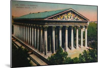 L'église de la Madeleine, Paris, c1920-Unknown-Mounted Giclee Print