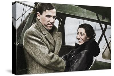 Amy Johnson, British aviator, about to set out for Cape Town, 1932-Unknown-Stretched Canvas Print