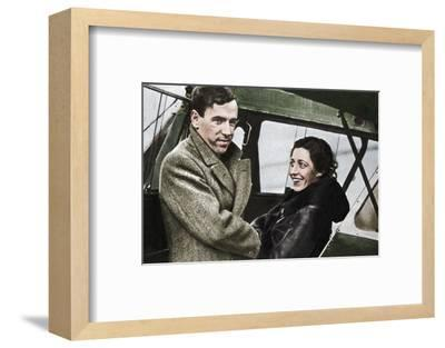 Amy Johnson, British aviator, about to set out for Cape Town, 1932-Unknown-Framed Photographic Print