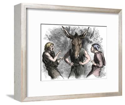 Scene from Shakespeare's A Midsummer Night's Dream-Unknown-Framed Giclee Print