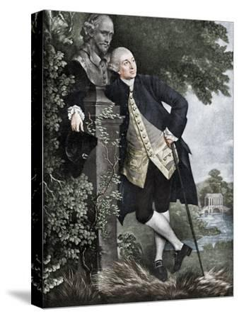 David Garrick (1717-1779), English actor, playwright, theatre manager and producer, 1905-Unknown-Stretched Canvas Print
