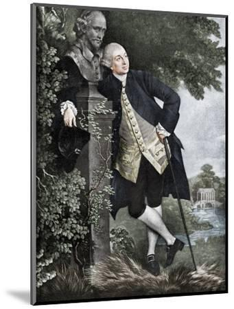 David Garrick (1717-1779), English actor, playwright, theatre manager and producer, 1905-Unknown-Mounted Giclee Print