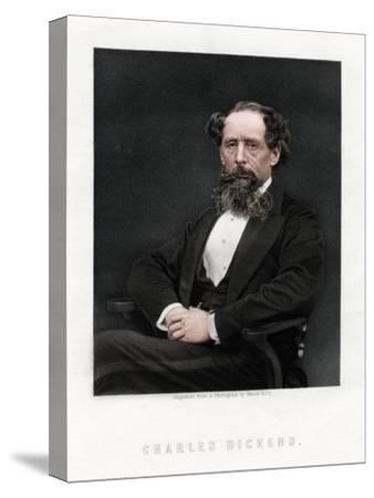 Charles Dickens, English novelist and journalist, 1876-Unknown-Stretched Canvas Print