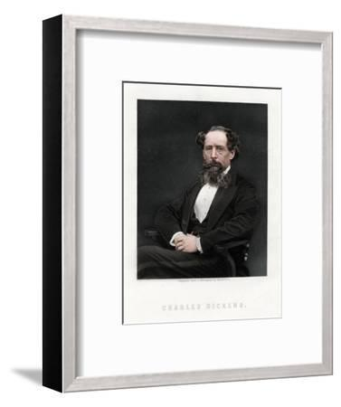 Charles Dickens, English novelist and journalist, 1876-Unknown-Framed Giclee Print