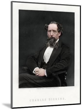 Charles Dickens, English novelist and journalist, 1876-Unknown-Mounted Giclee Print