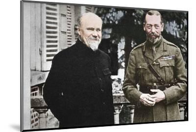 'His Majesty with President Poincare at The British General Headquarters in France', c1916, (1935)-Unknown-Mounted Photographic Print