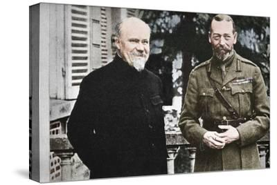 'His Majesty with President Poincare at The British General Headquarters in France', c1916, (1935)-Unknown-Stretched Canvas Print