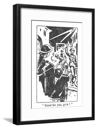 'Good for you, girls!', 1940-Unknown-Framed Giclee Print