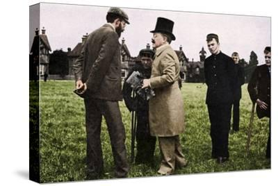Dr Barnardo at one of his homes, 1905 (1951)-Unknown-Stretched Canvas Print