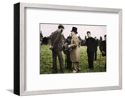 Dr Barnardo at one of his homes, 1905 (1951)-Unknown-Framed Photographic Print