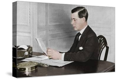 'Edward VIII working in his office at St. James's Palace, London', 1936-Unknown-Stretched Canvas Print
