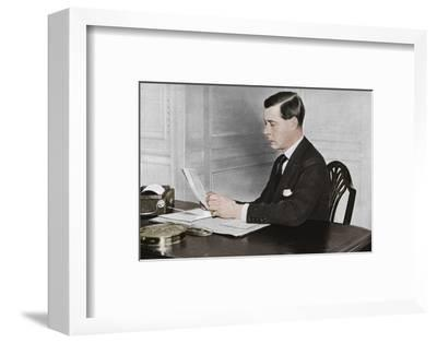 'Edward VIII working in his office at St. James's Palace, London', 1936-Unknown-Framed Photographic Print