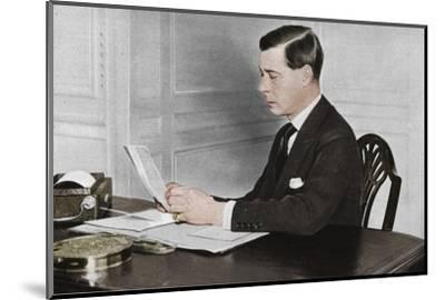 'Edward VIII working in his office at St. James's Palace, London', 1936-Unknown-Mounted Photographic Print