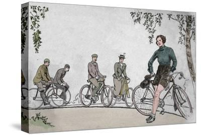 'Cycling 1839-1939 front cover', 1939-Unknown-Stretched Canvas Print