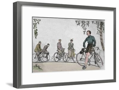 'Cycling 1839-1939 front cover', 1939-Unknown-Framed Giclee Print