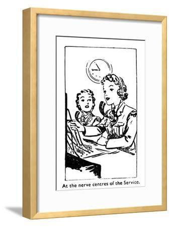 'At the nerve centres of the Service', 1940-Unknown-Framed Giclee Print