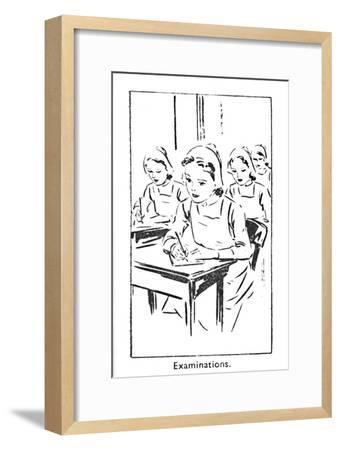 'Examinations', 1940-Unknown-Framed Giclee Print