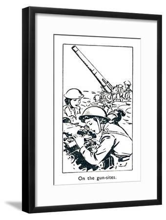 'On the gun-sites', 1940-Unknown-Framed Giclee Print