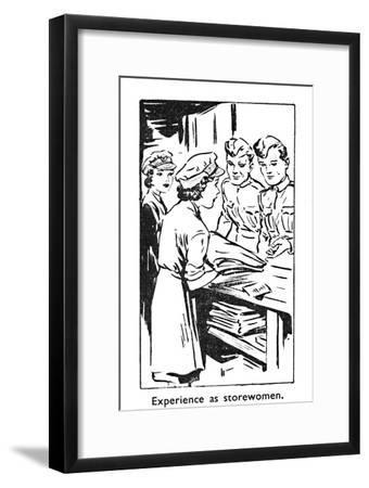 'Experience as storewomen', 1940-Unknown-Framed Giclee Print