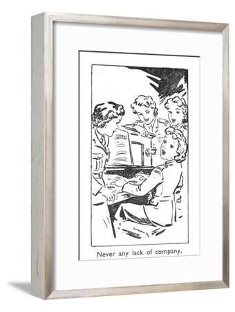 'Never any lack of company', 1940-Unknown-Framed Giclee Print
