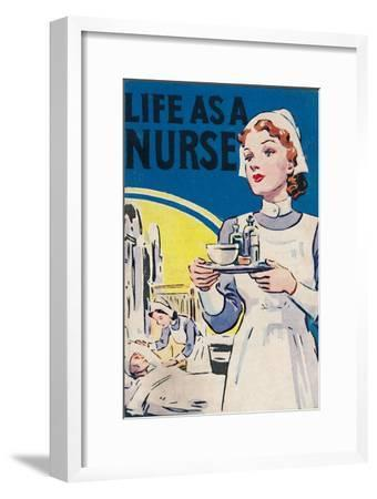 'Life as a Nurse', 1940-Unknown-Framed Giclee Print