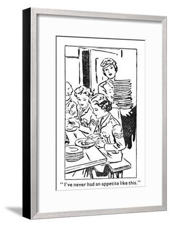 'I've never had an appetite like this', 1940-Unknown-Framed Giclee Print