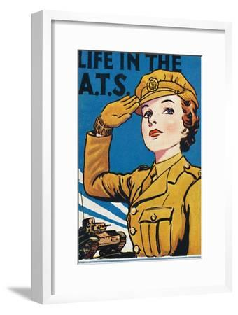 'Life in the A.T.S.', 1940-Unknown-Framed Giclee Print