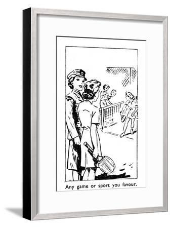 'Any game or sport you favour', 1940-Unknown-Framed Giclee Print