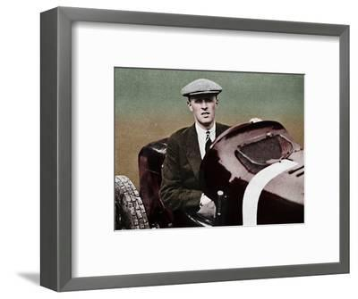 'Sir Henry Segrave', 1937-Unknown-Framed Photographic Print