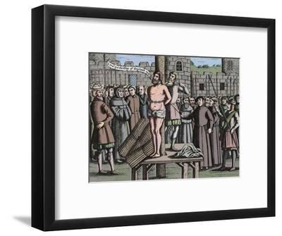 'The Martyrdome of Master William Tindall in Flanders by Vilvord Castle', 1563, (1947)-Unknown-Framed Giclee Print