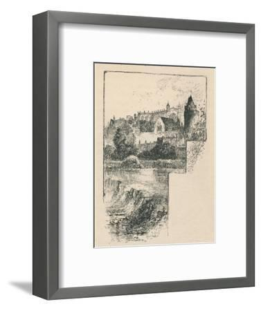 'St. George's Chapel from the River', 1895-Unknown-Framed Giclee Print