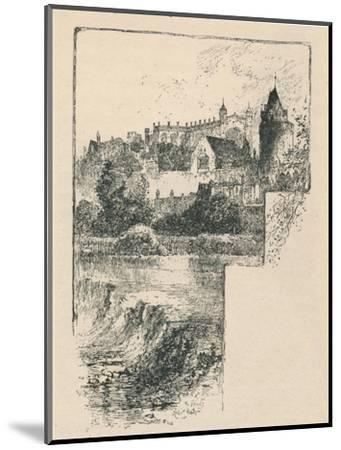 'St. George's Chapel from the River', 1895-Unknown-Mounted Giclee Print