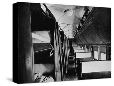 'Interior of Standard Sleeper, Canadian Pacific Railway', 1926-Unknown-Stretched Canvas Print