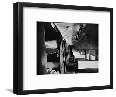 'Interior of Standard Sleeper, Canadian Pacific Railway', 1926-Unknown-Framed Photographic Print