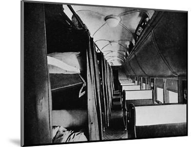 'Interior of Standard Sleeper, Canadian Pacific Railway', 1926-Unknown-Mounted Photographic Print