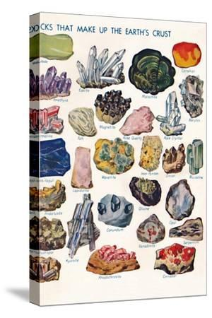 'Examples of the Different Rocks That Make Up The Earth's Crust', 1935-Unknown-Stretched Canvas Print
