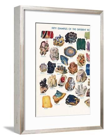 'Examples of the Different Rocks That Make Up The Earth's Crust', 1935-Unknown-Framed Giclee Print