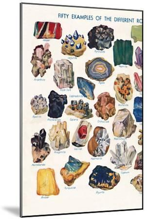 'Examples of the Different Rocks That Make Up The Earth's Crust', 1935-Unknown-Mounted Giclee Print