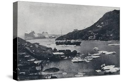 'Icebergs in St. John's Harbour', 1924-Unknown-Stretched Canvas Print