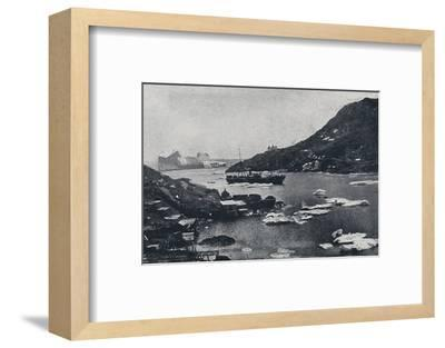 'Icebergs in St. John's Harbour', 1924-Unknown-Framed Photographic Print